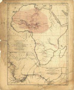 Antique Map of Africa 1857