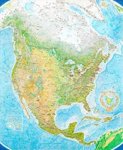 North America: Portrait of a Continent Wall Map
