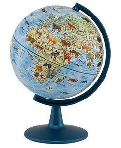 Miniature World Globe - Animals