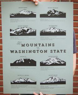Mountains of Washington Poster by Cellar Door Mercantile