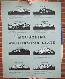 Mountains of Washington Poster by Cellar Door Mercantile