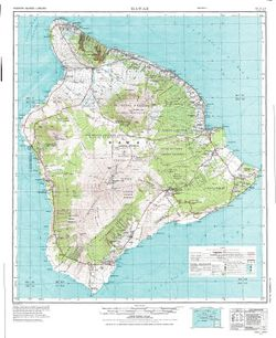 Hawaii Wall Map   Map of Hawaii Big Island