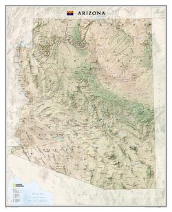 Arizona Wall Map by National Geographic