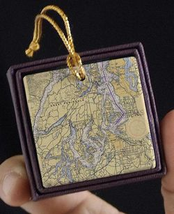 Great Peninsula Nautical Chart Ornament