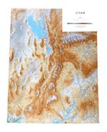 Utah Topographical State Map by Raven Maps