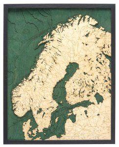 Scandinavia Woodchart