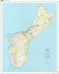 Guam Topographic Wall Map by USGS