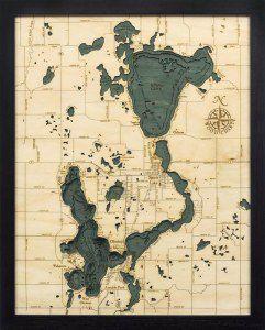 Lake Okoboji, IA Woodchart