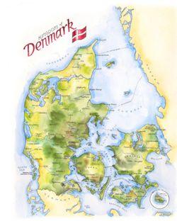 Denmark Watercolor Map Print l Elizabeth Person