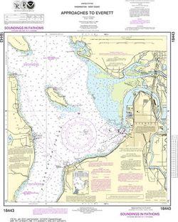 NOAA Chart 18443 - Approaches to Everett