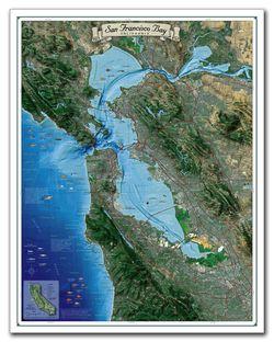 San Francisco Bay Satellite Photo by Tahoe Maps