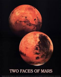 Mars Poster: The Two Faces of Mars