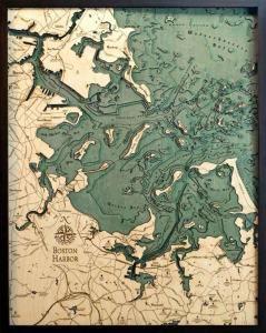 Boston Harbor Woodchart