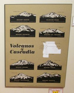 Volcanoes of the Cascades Poster