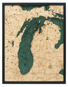 Lake Michigan Woodchart