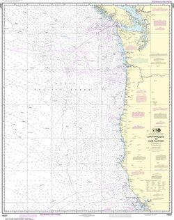 Nautical Chart 18007 - San Francisco to Cape Flattery