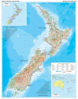 New Zealand Wall Map by Gizi