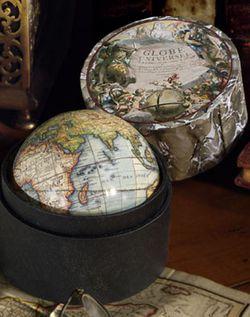 Mini Antique Globe in a box