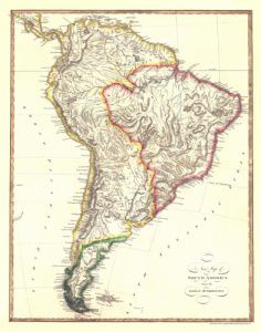 Antique Map of South America 1810