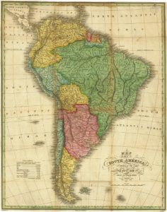 Antique Map of South America 1826