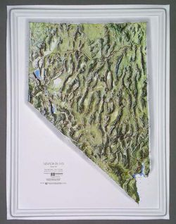 Nevada Raised Relief Map