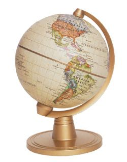 Miniature World Globe - Antique Ocean 4