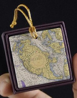 San Juan Island Nautical Chart Ornament