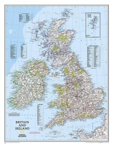 Britain & Ireland Wall Map by National Geographic