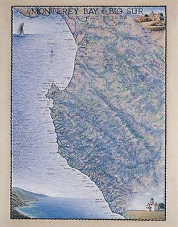 Monterey Bay & Big Sur Art Print & Poster
