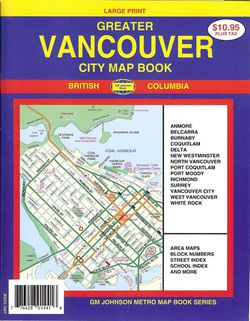 Vancouver, Canada Street Atlas by GM Johnson
