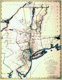 Antique Map of New York & New Jersey 1776