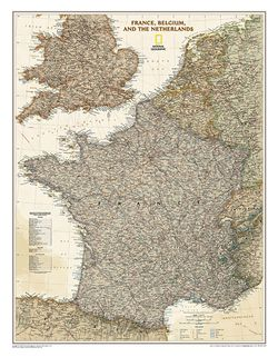 France Executive Wall Map by National Geographic