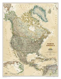 North America Executive Series Wall Map by National Geographic