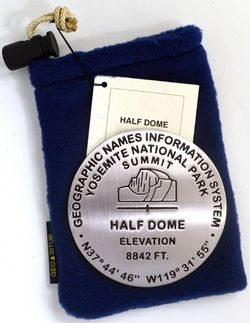 Half Dome  Benchmark Medallion