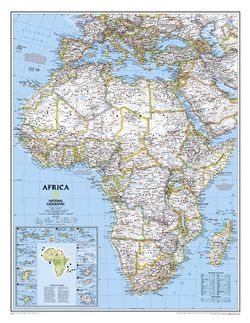 Africa Wall Map by National Geographic