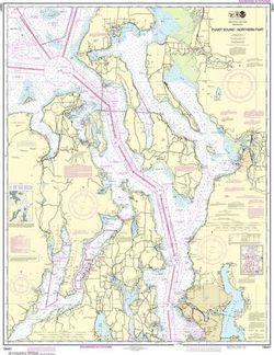 Nautical Chart 18441 - Puget Sound, Northern