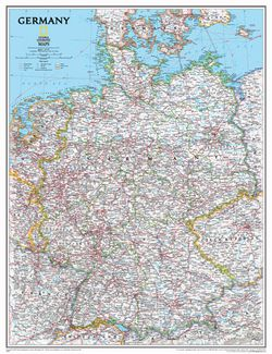 Germany Wall Map by National Geographic