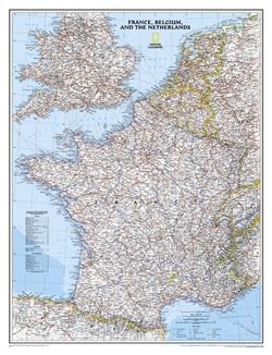 France Wall Map by National Geographic