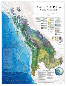 Cascadia Area Wall Map