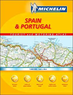 Spain & Portugal Road Atlas Spiralbound by Michelin