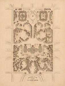 Antique Map of Washington DC 1874 - Capitol Grounds