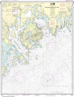 Nautical Chart 13312 Frenchman and Blue Hill Bays
