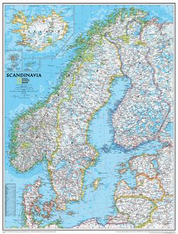 Scandinavia Map by National Geographic