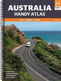 Australia Handy Atlas Spiralbound by Hema