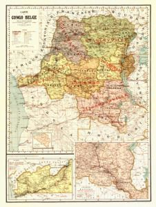 Antique Map of Central Africa 1896