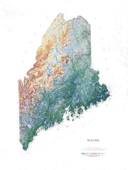 Maine Wall Map l Raven Maps