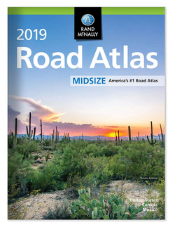 2019 Road Atlas USA - Midsize - by Rand McNally