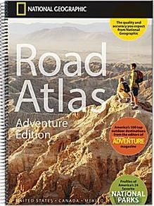 Road Atlas Adventure Edition USA Spiral Bound by National Geographic
