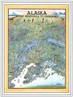 Alaska, Kenai to Fairbanks, Art Print & Poster