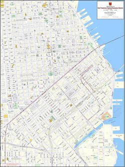 San Francisco Downtown Business District Map